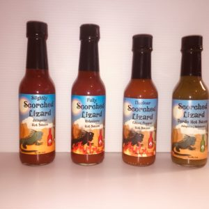SCORCHED LIZARD PRIVATE LABEL HOT SAUCES 4 PACK