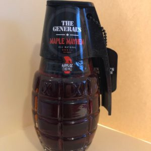 THE GENERAL'S HAND GRENADE MAPLE MAYHEM HOT SAUCE 6oz