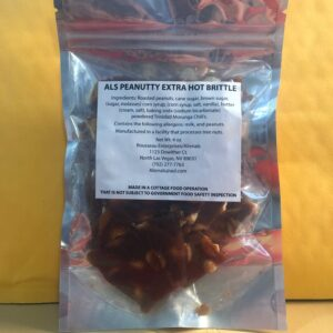 AL'S PEANUTTY EXTRA HOT BRITTLE 4oz