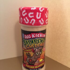 ASS KICKIN' JALAPENO CHEDDAR HOT AND CHEESY POPCORN SEASONING 3.5oz