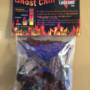 SMOKED AND DRIED GHOST PEPPER PODS 1/2oz